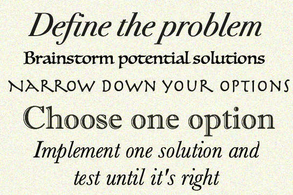 5 easy steps to creative solutions