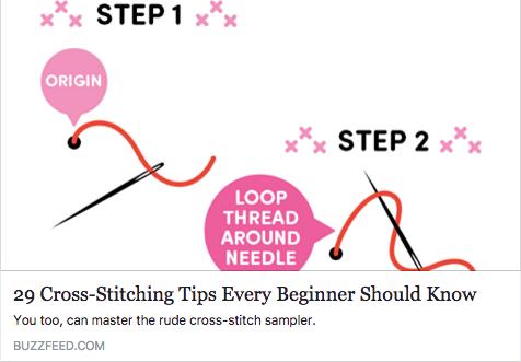 BuzzFeed Feb 2017 how to cross stitch