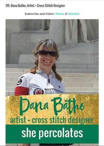She Percolates - Dana Batho, Artist + Cross Stitch Designer