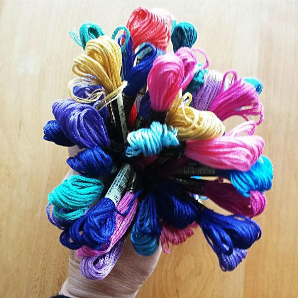 Dahlia DMC bouquet of floss © Dana Batho