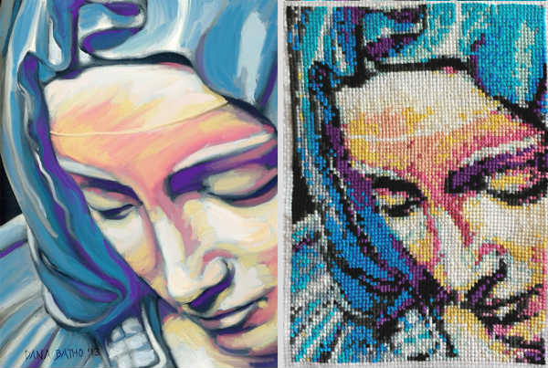 From a painting to a cross stitch