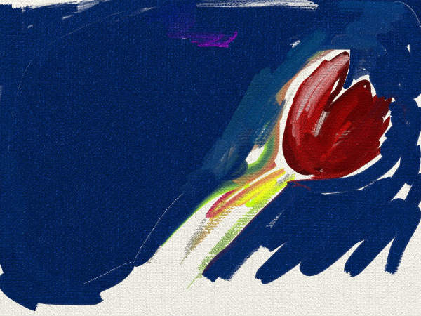 Poppy oil painting ArtRage