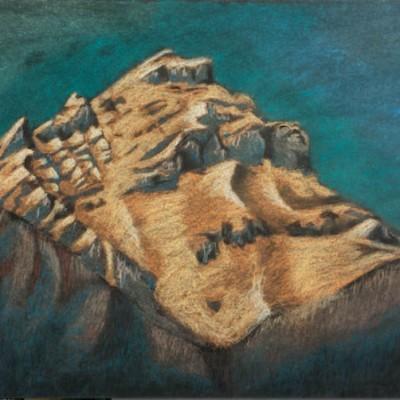 Cascade Mountain chalk pastel 2002 gallery © Dana Batho