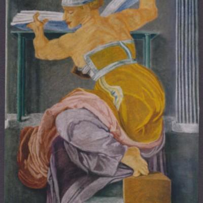 Libyan Sibyl chalk pastel 1997 gallery © Dana Batho