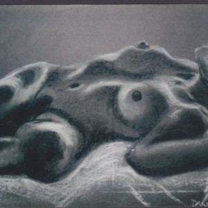 Life Drawing 1 chalk charcoal 1998 gallery © Dana Batho