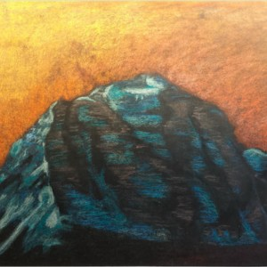 Mount Temple chalk pastel 2002 gallery © Dana Batho