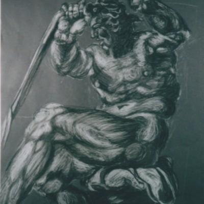 Sistine 2 chalk charcoal 1999 gallery © Dana Batho