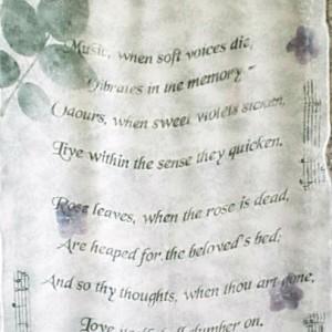 "Music (detail), Hand-printed silk georgette scarf, 14x60"", 1999 gallery © Dana Batho"