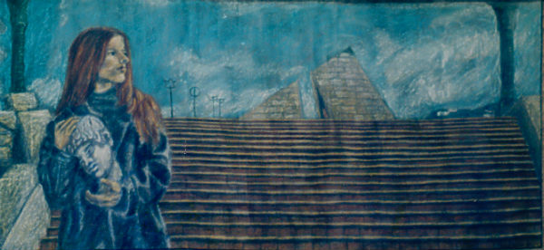 A Land Too Young oil pastel 1999 gallery