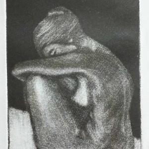 """Tranquility, mezzotint, 3x6"""", 1997 gallery © Dana Batho"""