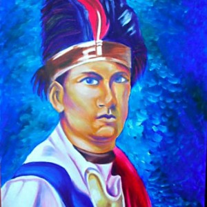 "Joseph Brant, oil painting on canvas, 18x24"", 2008, gallery © Dana Batho"