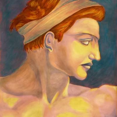 Determine oil painting 2002 © Dana Batho gallery