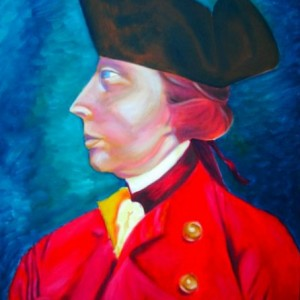 "General Wolfe, oil painting on canvas, 18x24"", 2008 gallery © Dana Batho"