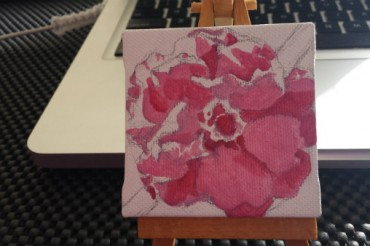 First layer of my floral oil painting
