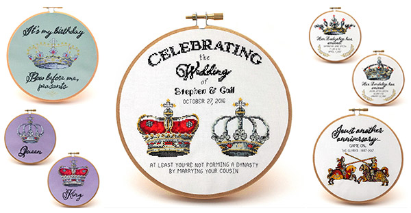 Royal proclamations cross stitch patterns