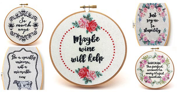 vintage sass cross stitch patterns