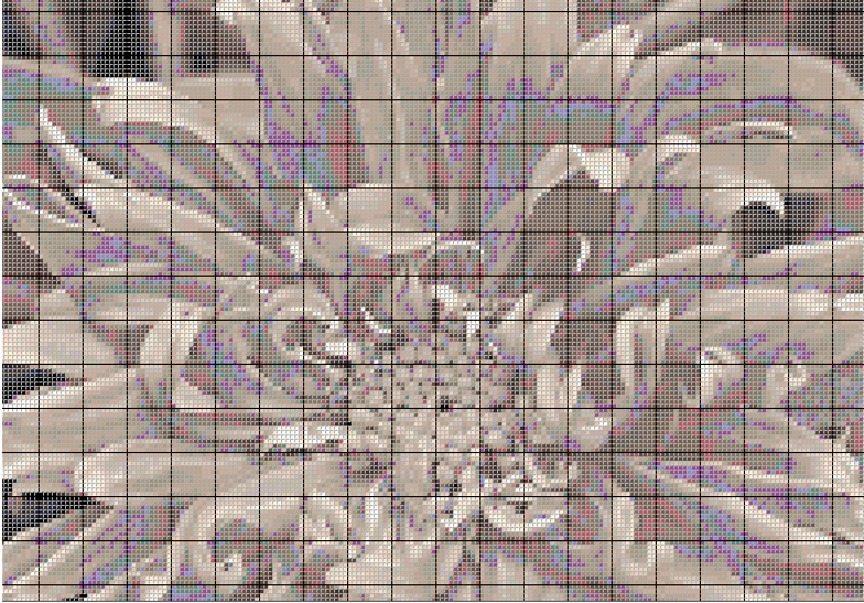 Floral pattern designs and MacStitch cross stitch software