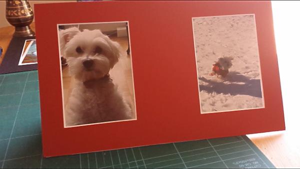 Finished mat photo frame - undecorated
