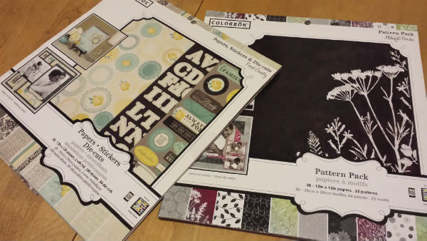 Patterned paper sample books