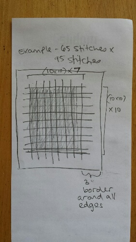 cross stitch gridded fabric example