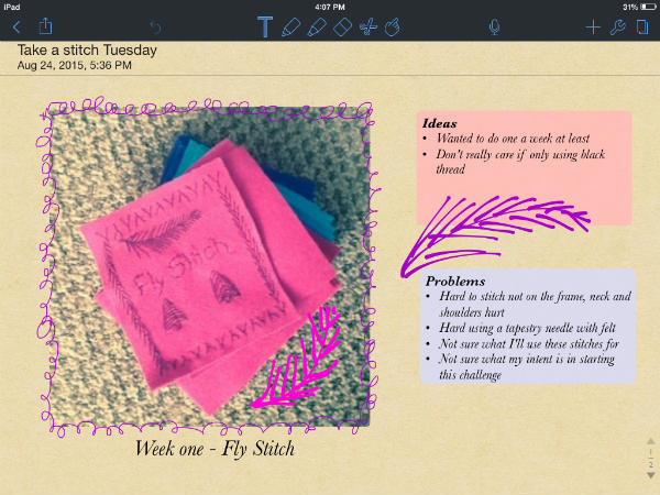 Take a Stitch Tuesday Notability