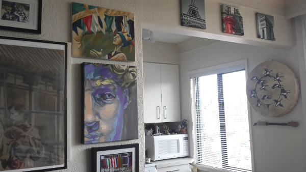 finished gallery wall
