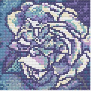 White Rose - floral cross stitch designs sample