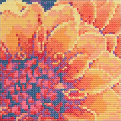 Yellow dahlia - floral cross stitch designs