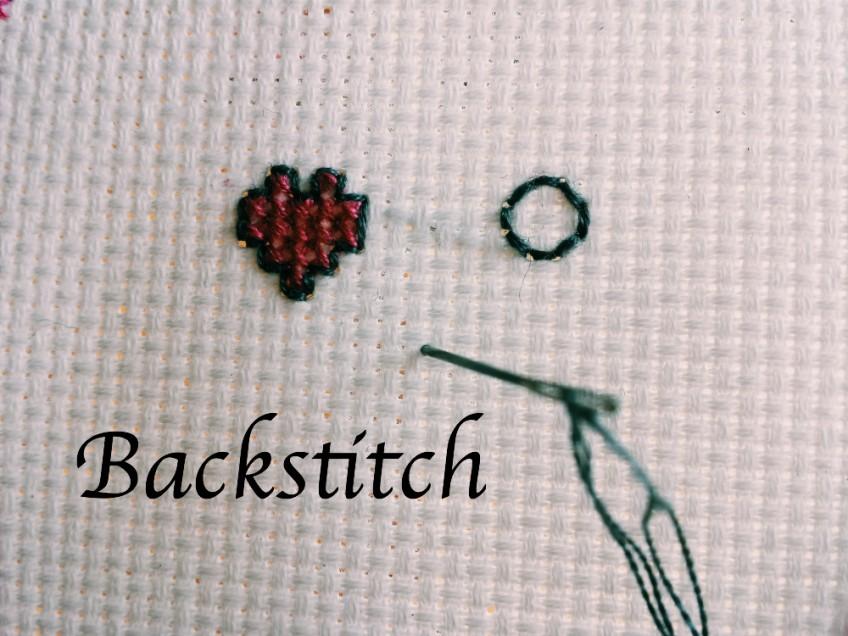 Backstitch video tutorial