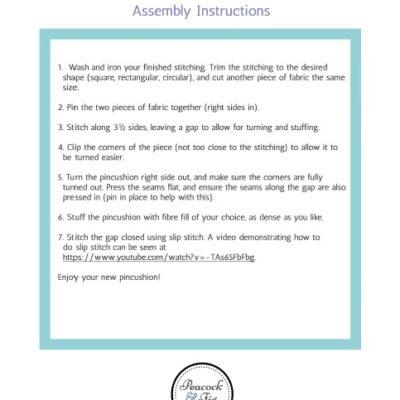 Written assembly instructions