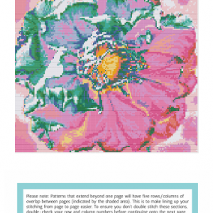 Plum Blossom cross stitch pattern preview