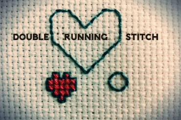 Double Running Stitch – Reversible Stitching