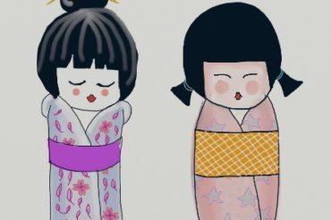 Kokeshi doll digital drawing – using ArtRage