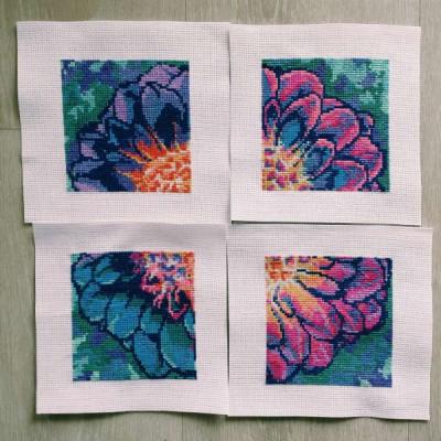 how to frame cross stitch