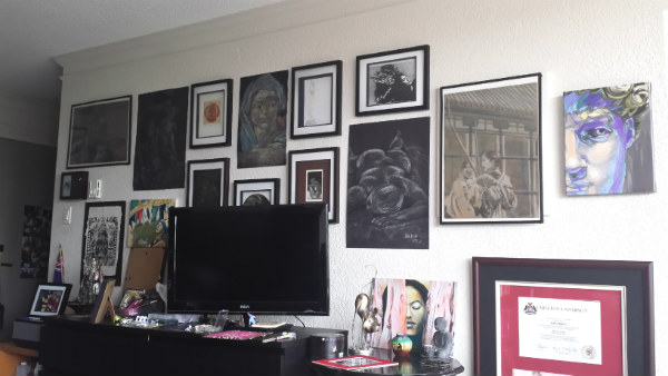 Figuring out placement gallery wall