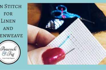 How to cross stitch linen: the pin stitch