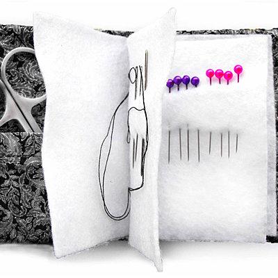 Needle case open cross stitch