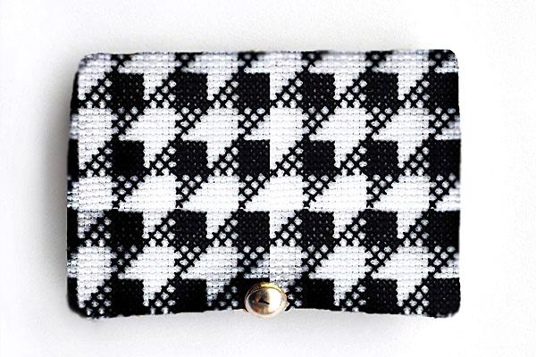 Needlebook closed geometric cross stitch plaid