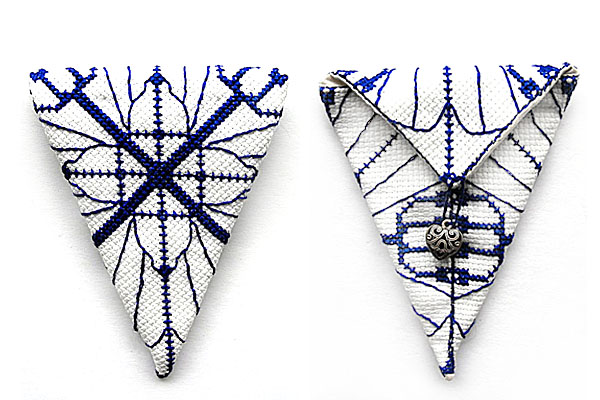 cross stitch set scissor case closed