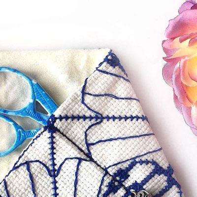 scissor case cross stitch pattern sneak peek
