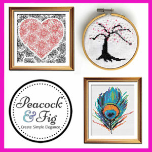 Free cross stitch patterns at Peacock & Fig