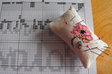 Starting cross stitch patterns: find the centre of your pattern