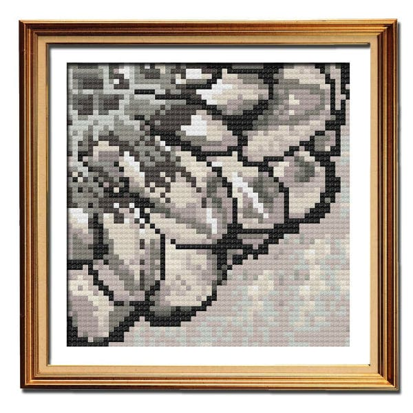 Rustic Dahlia 2 easy cross stitch pattern