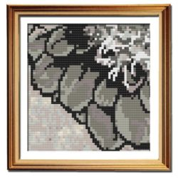 Rustic Dahlia 3 simple cross stitch pattern