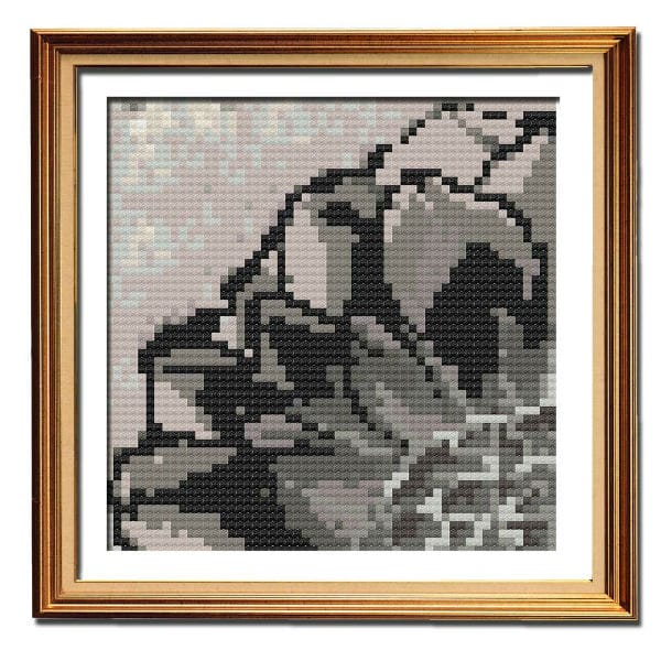Rustic Dahlia 4 country cross stitch pattern