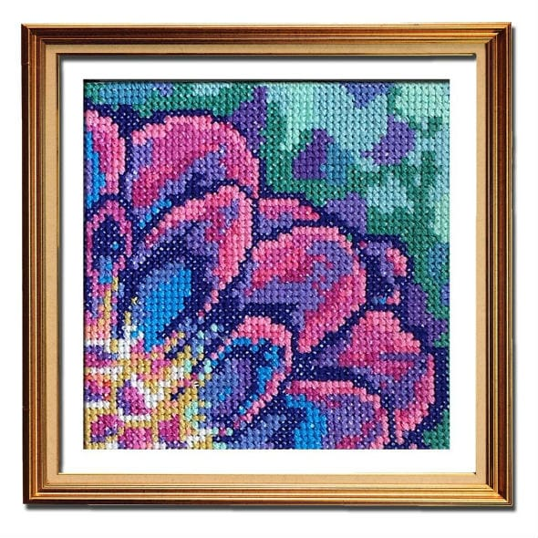 Solarize Dahlia 1 small cross stitch pattern