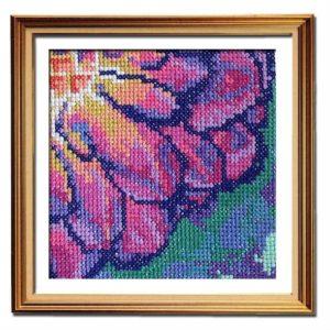 Solarize Dahlia 2 beginner cross stitch pattern