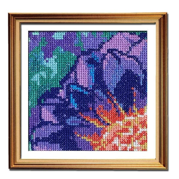 Solarize Dahlia 4 cross stitch for beginners pattern