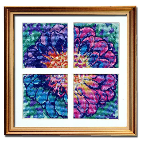 Solarize Dahlia counted cross stitch patterns