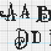 Alphabet 3 detail Backstitch alphabet detail cross stitch pattern